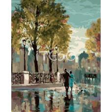 Картина-раскраска по номерам «Прогулка в парке» 40*50 см