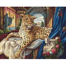 Картина-раскраска по номерам «Римский леопард» 40*50 см