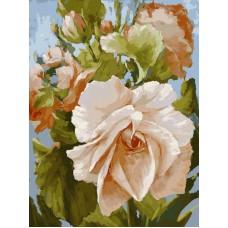 Картина-раскраска по номерам «Роза» 30*40 см или 40*50 см