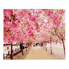 Картина-раскраска по номерам «Розовая аллея» 40*50 см