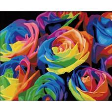 Картина-раскраска по номерам «Розы абстракция» 40*50 см