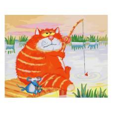 Картина-раскраска по номерам «Рыбаки» 40*50 см