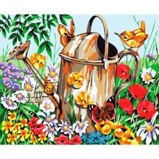 Картина-раскраска по номерам «Садовая лейка» 40*50 см
