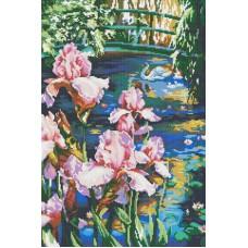 Алмазная мозаика «Садовый пруд » 40*60 см