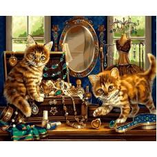 Картина-раскраска по номерам «Шкатулка с драгоценностями» 40*50 см