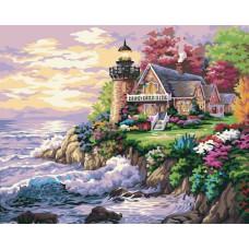 Картина-раскраска по номерам «Шумный берег» 40*50 см
