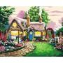 Картина-раскраска по номерам «Сказочный домик» 40*50 см