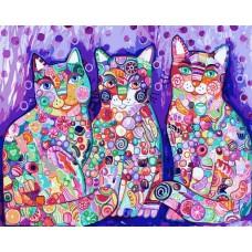 Картина-раскраска по номерам «Сладкие карамельки» 40*50 см