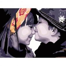 Картина-раскраска по номерам «Смешение чувств» 30*40 см