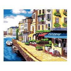 Картина-раскраска по номерам «Солнечная набережная» 40*50 см