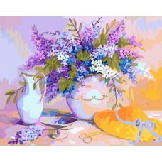 Картина-раскраска по номерам «Солнечный букет» 40*50 см