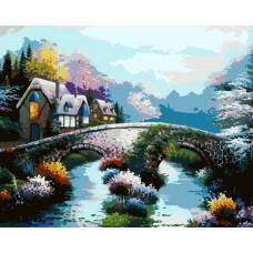 Картина-раскраска по номерам «Старинный мост» 40*50 см
