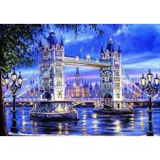 Картина-раскраска по номерам «Тауэрский мост» 40*50 см