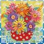 Алмазная мозаика «Цветики-цветочки» 30*30 см
