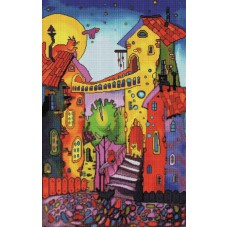 Алмазная мозаика «Цветные коты» 30*40 см