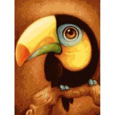 Картина-раскраска по номерам «Тукан» 30*40 см