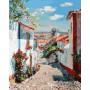 Картина-раскраска по номерам «Улочка в португальском поселке» 40*50 см