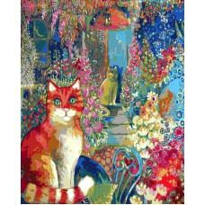 Картина-раскраска по номерам «В городском саду» 40*50 см