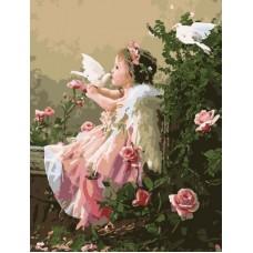 Картина-раскраска по номерам «В райском саду» 40*50 см