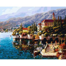 Картина-раскраска по номерам «Варенна. Италия» 40*50 см