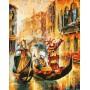 Картина-раскраска по номерам «Венецианская гондола» 40*50 см