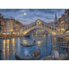 Картина-раскраска по номерам «Венецианская ночь» 40*50 см