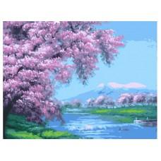 Картина-раскраска по номерам «Весеннее цветение» 40*50 см