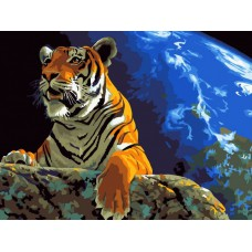 Картина-раскраска по номерам «Властелин мира» 40*50 см