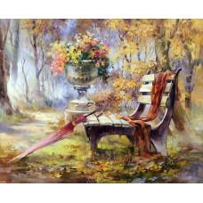 Картина-раскраска по номерам «Время листопада» 40*50 см