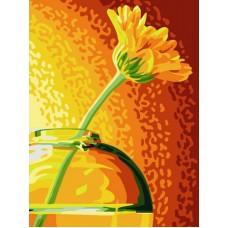Картина-раскраска по номерам «Желтая гербера» 30*40 см