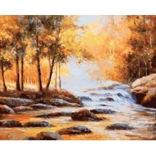 Картина-раскраска по номерам «Осень золотая» 40*50 см