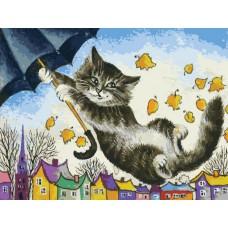 Картина-раскраска по номерам «Зонтик» 30*40 см