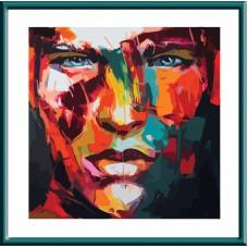 Картина-раскраска по номерам «Абстрактный портрет мужской» 30*30 см