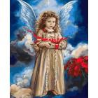 Ангел с рождественским подарком