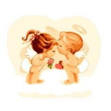 Картина-раскраска по номерам «Ангелочки» 20*30 см
