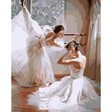 Картина-раскраска по номерам «Балерины» 40*50 см