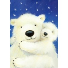 Алмазная мозаика «Белые медведи» 19х27 см