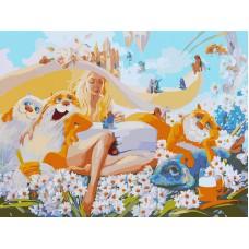 Картина-раскраска по номерам «Блондинка» 30*40 см