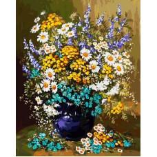 Картина-раскраска по номерам «Букет полевых цветов» 40*50 см