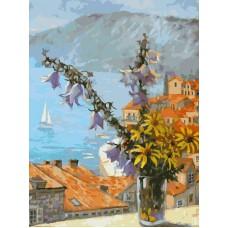Картина-раскраска по номерам «Букет с колокольчиками» 30*40 см