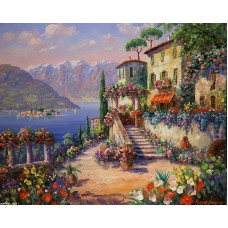 Картина-раскраска по номерам «Средиземноморье» 40*50 см