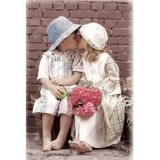 Картина-раскраска по номерам «Детская любовь» 40*50 см