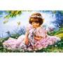 Картина-раскраска по номерам «Девочка и далматинец» 40*50 см