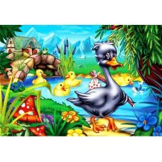 Картина-раскраска по номерам «Гадкий утенок» 30*40 см