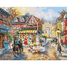 Картина-раскраска по номерам «Городская площадь» 40*50 см