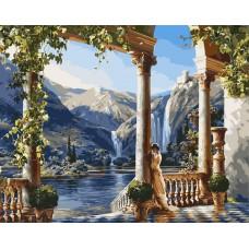 Картина-раскраска по номерам «Греческая красота» 40*50 см