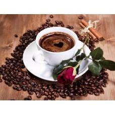 Картина-раскраска по номерам «Кофе для любимой» 40*50 см