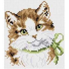 Алмазная мозаика «Кошка Алиса» 20*20 см