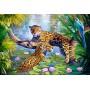 Картина-раскраска по номерам «Леопарды у пруда» 40*50 см