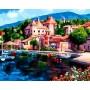 Картина-раскраска по номерам «Лодки у причала» 40*50 см